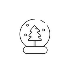 Thin line snow globe icon vector