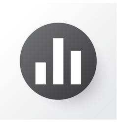 Chart icon symbol premium quality isolated column vector
