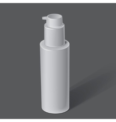 White cosmetics containers vector