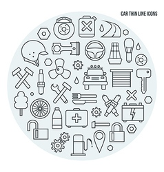Auto service icons set vector image