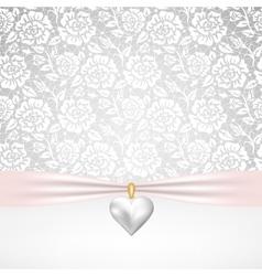 pearl heart pendant vector image