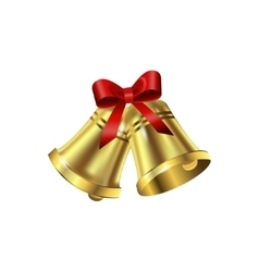 Jingle bells with red bow vector