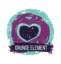 Grunge heart colorful vector