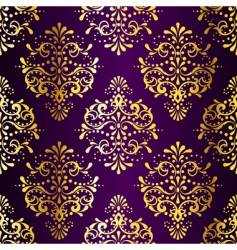 Intricate gold-on-purple seamless sari vector