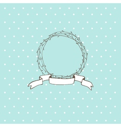 circle of branches Light green background vector image