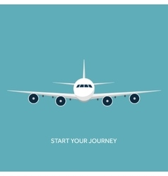 Plane airplane flat vector