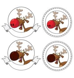 deer head banner vector image