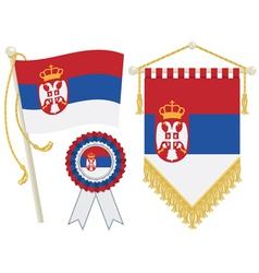 Serbia flags vector