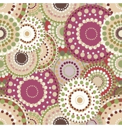 Seamless retro pattern with vintage bright vector