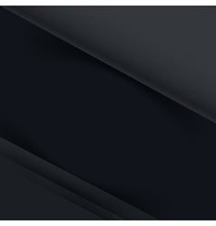 Abstract dark background overlap layer and shadow vector image vector image