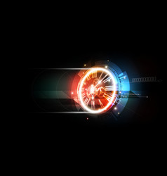 Abstract futuristic background with clock concept vector