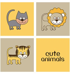 Animals design vector image vector image