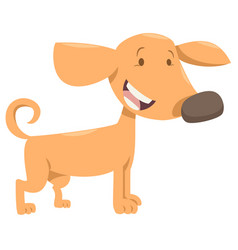 Big dog cartoon character vector