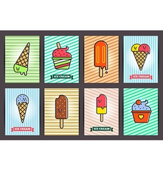 Brochures with ice cream templates Backgrounds vector image