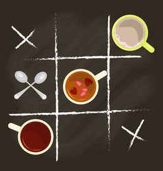 chalk lettering and tea vector image