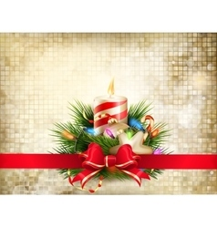 Christmas greeting card EPS 10 vector image vector image