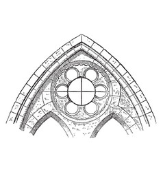 Clerestory or window showing a sexfoil window vector