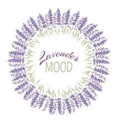 Decorative lavender frame vector
