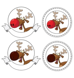deer head banner vector image vector image