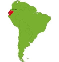 Ecuador map vector