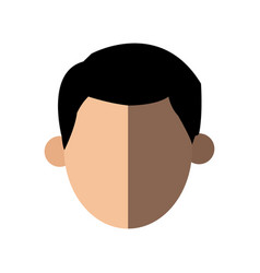 Faceless head man people image vector