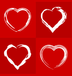 frame hearts vector image