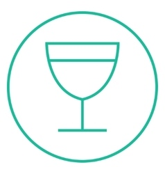 Glass of wine line icon vector image