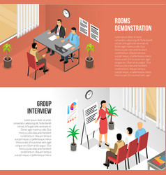 Group assessment horizontal banners vector