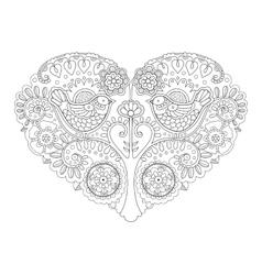 Heart design coloring book vector image vector image