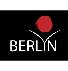 i love Berlin vector image