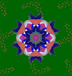 Invitation with colored mandala design element vector