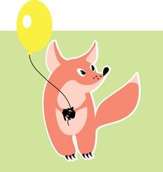 Little fox vector