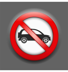 No Parking Sign vector image vector image