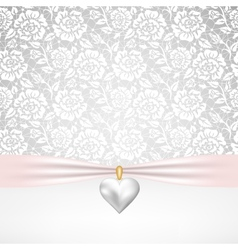 pearl heart pendant vector image vector image