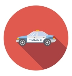 Police car icon flat style vector image