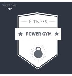Power fitness gym logo vector