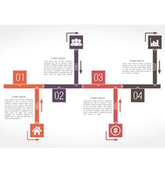 Puzzle Timeline vector image vector image