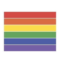 Rainbow flag icon lgbt community sign vector image vector image