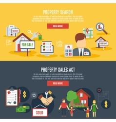 Real estate banner vector