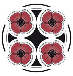 red dramatic flower desgin vector image