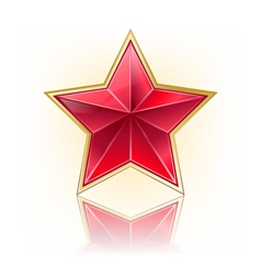 red five star vector image vector image