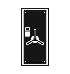 Safe door icon simple style vector