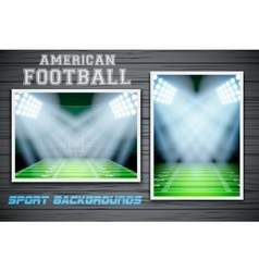 Set backgrounds of us football stadium vector