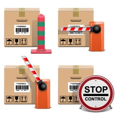 Shipment Icons Set 22 vector image vector image