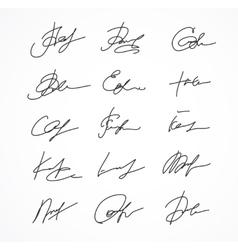 Signature fictitious Autograph vector image vector image