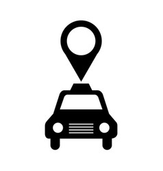 Taxi service with pin location vector