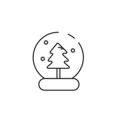 thin line snow globe icon vector image vector image