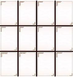 vintage border frame set vector image
