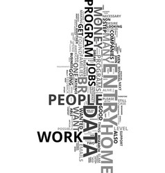 Work at home data entry jobs text word cloud vector