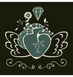 Vintage style emblem vector image